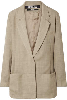 Jacquemus Saafi Oversized Wool Blazer - Beige