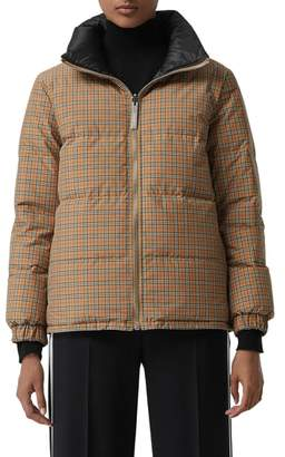 Burberry Reddich Vintage Check Reversible Down Jacket