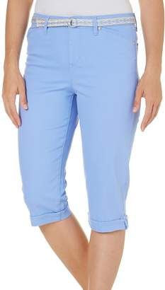Gloria Vanderbilt Womens Lillian Belted Capris