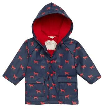 Hatley Labrador Print Waterproof Hooded Raincoat
