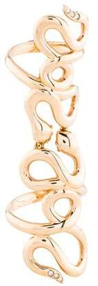 Repossi 18K Diamond Double Snake Ring