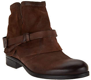 Miz Mooz Leather Ankle Boots with Strap Detail- Seymour