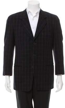 Giorgio Armani Wool Three-Button Blazer
