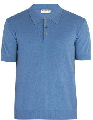 éditions M.r - Jude Terry Towelling Cotton Blend Polo Shirt - Mens - Blue