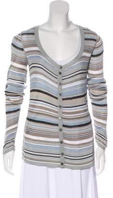 Dolce & Gabbana Striped Long Sleeve Cardigan