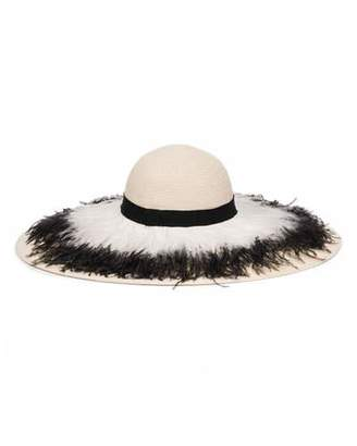 Eugenia Kim Sunny Ostrich Feather Fringe Sun Hat