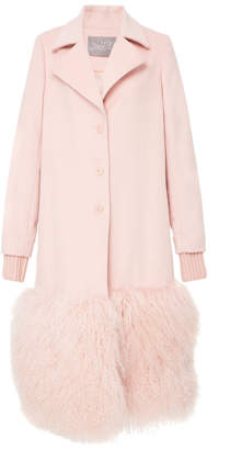 Lela Rose Fur Panel Coat