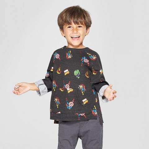 Marvel Toddler Boys' Marvel Avengers Sweatshirt - Black