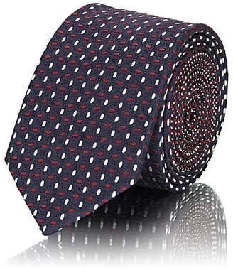 Prada Men's Geometric-Dot Silk Jacquard Necktie