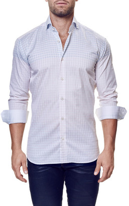 Maceoo Elegance Check Long Sleeve Trim Fit Shirt (Big & Tall Available) $169 thestylecure.com