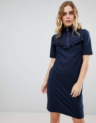 Ichi Zip High Neck Dress