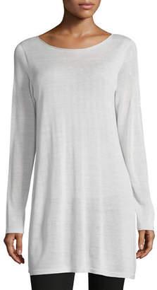 Eileen Fisher Long-Sleeve Seamless Knit Ballet-Neck Tunic
