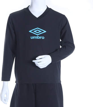 Umbro (アンブロ) - アンブロ UMBRO メンズ サッカー/フットサル 長袖インナーシャツ JR サンスクリ-ン L/S シャツ UBS7638JL