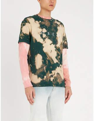 Obey No Nukes tie-dye print cotton-jersey T-shirt