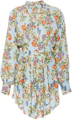 Marissa Webb Winnie Floral Crepe Mini Dress