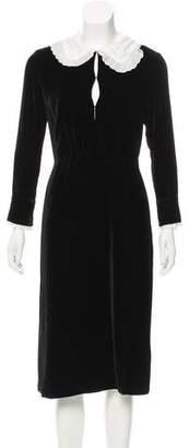 Altuzarra Velvet Midi Dress