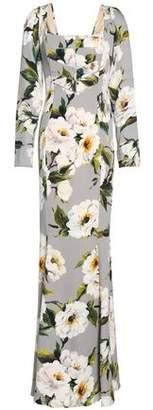 Dolce & Gabbana Floral-print Silk-satin Maxi Dress