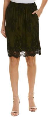 Gold Hawk Liz Silk-Lined Skirt