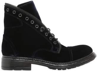 Fru.it 20mm Zipped Velvet Ankle Boots