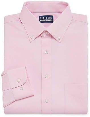 STAFFORD Stafford Big And Tall Long Sleeve Woven Dress Shirt
