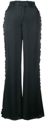 Acne Studios flared satin trousers