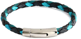 Tateossian Rt By Stainless Steel & Leather Bracelet