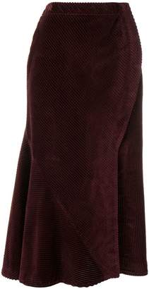 Cédric Charlier high waisted corduroy skirt