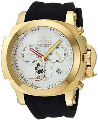 Invicta Men's 'Disney Limited Edition' Quartz Stainless Steel and Silicone Casual Watch