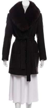 Michael Kors Fur-Trim Jacket