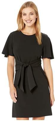 Donna Morgan Tie Front Crepe Dress