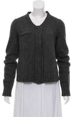 Philosophy di Alberta Ferretti Knit Scoop Neck Cardigan
