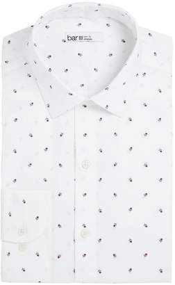 Bar III Men's Slim-Fit Stretch Floral-Print Dress Shirt