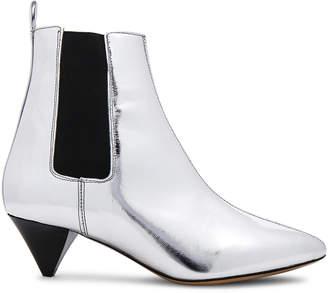 Isabel Marant Metallic Leather Dawell New Vintage Booties