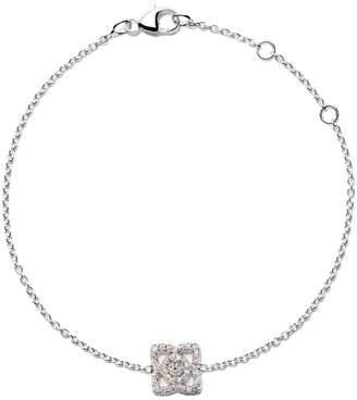 De Beers 18kt white gold Enchanted Lotus one-motif diamond bracelet