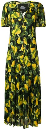 Marc Jacobs pear print long dress