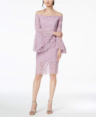 Bardot Solange Bell-Sleeve Lace Dress