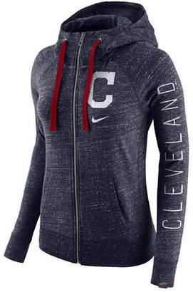 Nike Women's Cleveland Indians Gym Vintage Full Zip Hooded Sweatshirt