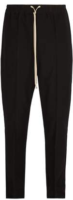 Rick Owens Drawstring Waist Trousers - Mens - Black
