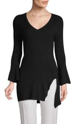 Splendid V-Neck Ribbed Tunic