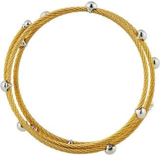 Alor Cable Coil Wrap Bracelet, Golden