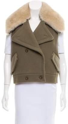 Reed Krakoff Fur Trimmed Wool Vest w/ Tags