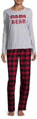 North Pole Trading Company Knit Flannel PJ Set