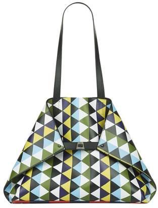 Akris Ai Geometric Medium Shoulder Bag