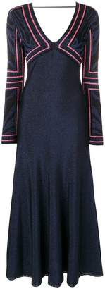 Roberto Cavalli long jacquard dress