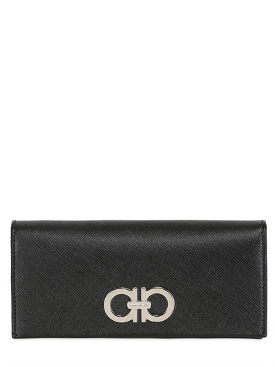 Salvatore Ferragamo Saffiano Leather Flap Wallet