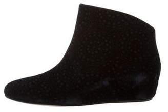 Alaia Velvet Wedge Booties