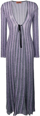 Missoni glitter knitted long cardigan