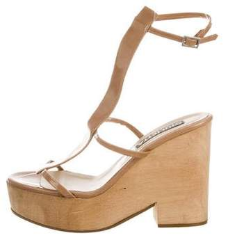 Giulietta Patent Leather T-Strap Wedges