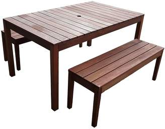 The Import Depot Outdoor Dining Sets Aulay 3-Piece Outdoor Dining Set