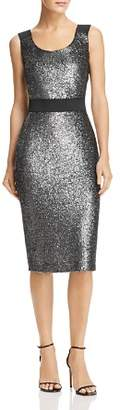 Moschino Metallic Sparkling Sheath Dress